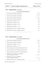 Linear Graphs and Equations Worksheet