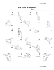 Fun Math Worksheet: Addition Facts Worksheet