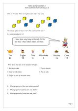 Ratio and Proportion 2 Worksheet