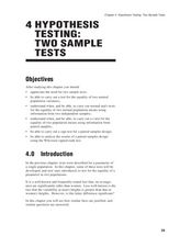 Hypothesis Testing: Two Sample Tests Lesson Plan