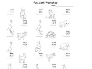 Four-Digit Addition Worksheet