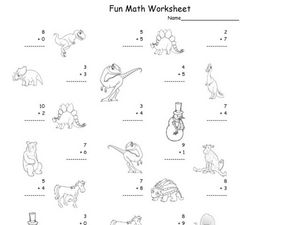 Fun Math Worksheet: 1-Digit Addition 18 Worksheet