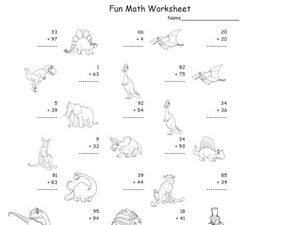 Fun Math Worksheet: 2-Digit Addition 14 Worksheet