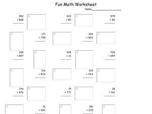 Hard Addition Worksheet 30 Worksheet