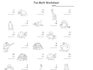 Fun Math: 1-Digit Addition #3 Worksheet