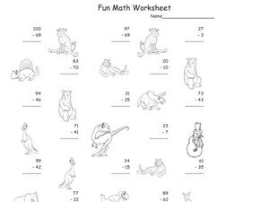 Fun Math Worksheet - Subtract Two-Digit Numbers Worksheet