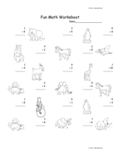 Fun Math Worksheet: 1-Digit Addition 24 Worksheet