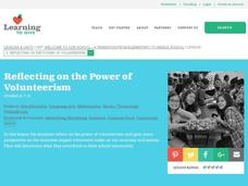 Reflecting on the Power of Volunteerism Lesson Plan