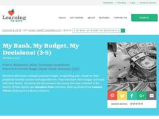 My Bank, My Budget, My Decisions! Lesson Plan