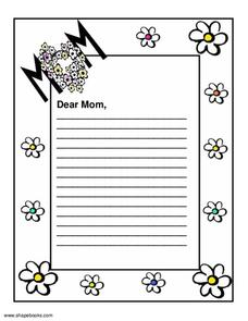 DEAR MOM Printables & Template