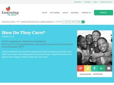 How do they care? Lesson Plan