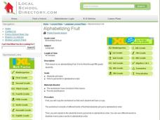 Alphabetizing Fruit Lesson Plan
