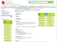 Learning About Sentence Structure Lesson Plan
