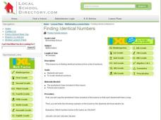 Finding Identical Numbers Lesson Plan