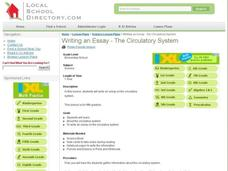 Writing an Essay- The Circulatory System Lesson Plan