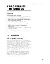 Properties of Curves Worksheet