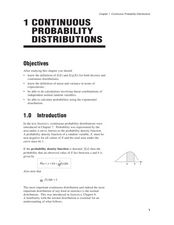 Continuous Probability Distributions Worksheet