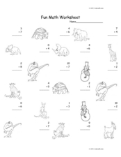 Fun Math: Adding Numbers 1-10 #7 Worksheet