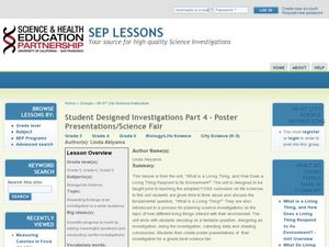 Student Designed Investigations Part 4 - Poster Presentations/Science Fair Lesson Plan