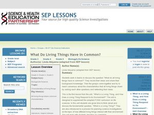 What Do Living Things Have In Common? Lesson Plan