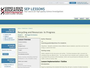 Recycling and Resources Lesson Plan