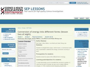 Conversion of Energy Into Different Forms Lesson Plan