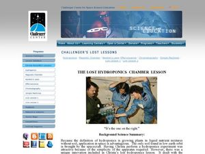 The Lost Hydroponics Chamber Lesson Lesson Plan