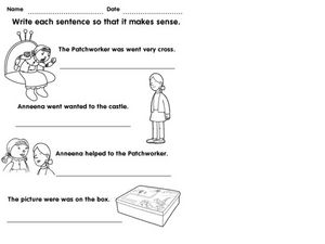 Sentence Correction Worksheet