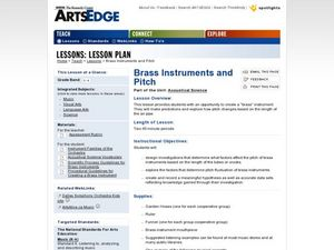 Investigating Brass Instruments and Pitch Lesson Plan
