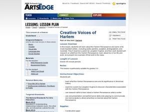Creative Voices of Harlem Lesson Plan