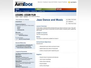 Jazz Dance and Music Lesson Plan