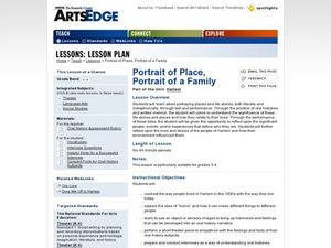 Portrait of a Place, Portrait of a Family Lesson Plan