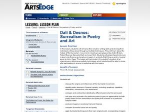 Dali & Desnos: Surrealism in Poetry and Art Lesson Plan