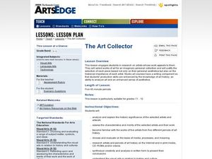 The Art Collector: Researching Famous Artists Worksheet