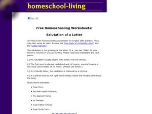 Letter Salutations Worksheet