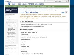 Let's Start Growing Lesson Plan