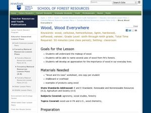 Wood, Wood Everywhere Lesson Plan