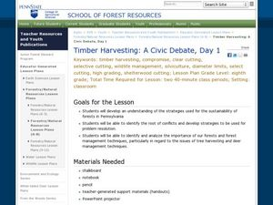 Timber Harvesting: A Civic Debate, Day 1 Lesson Plan