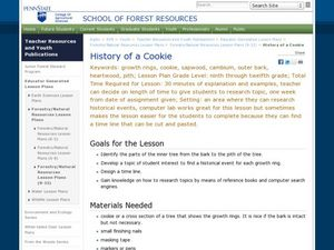 History of a Cookie Lesson Plan