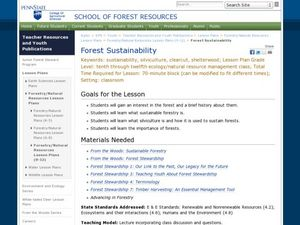 Forest Sustainability Lesson Plan