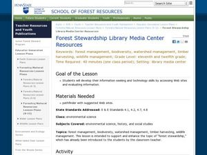 Forest Stewardship Library Media Center Resources Lesson Plan