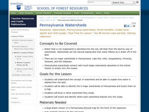 Pennsylvania Watersheds Lesson Plan