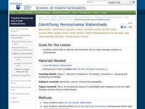 Identifying Pennsylvania Watersheds Lesson Plan