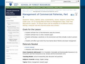 Management of Commercial Fisheries, Part 3 Lesson Plan
