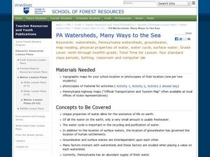 PA Watersheds, Many Ways to the Sea Lesson Plan
