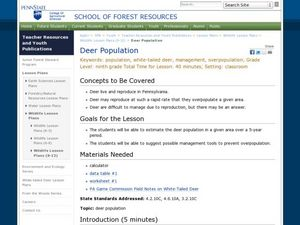 Deer Population Lesson Plan