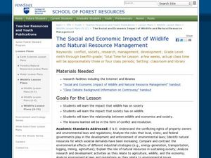 The Social and Economic Impact of Wildlife and Natural Resource Management Lesson Plan