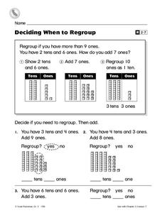 Deciding When to Regroup Worksheet