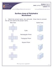 Surface Area of Polyhedra Worksheet Worksheet