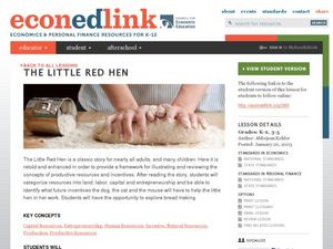 The Little Red Hen: How We Make Bread Lesson Plan